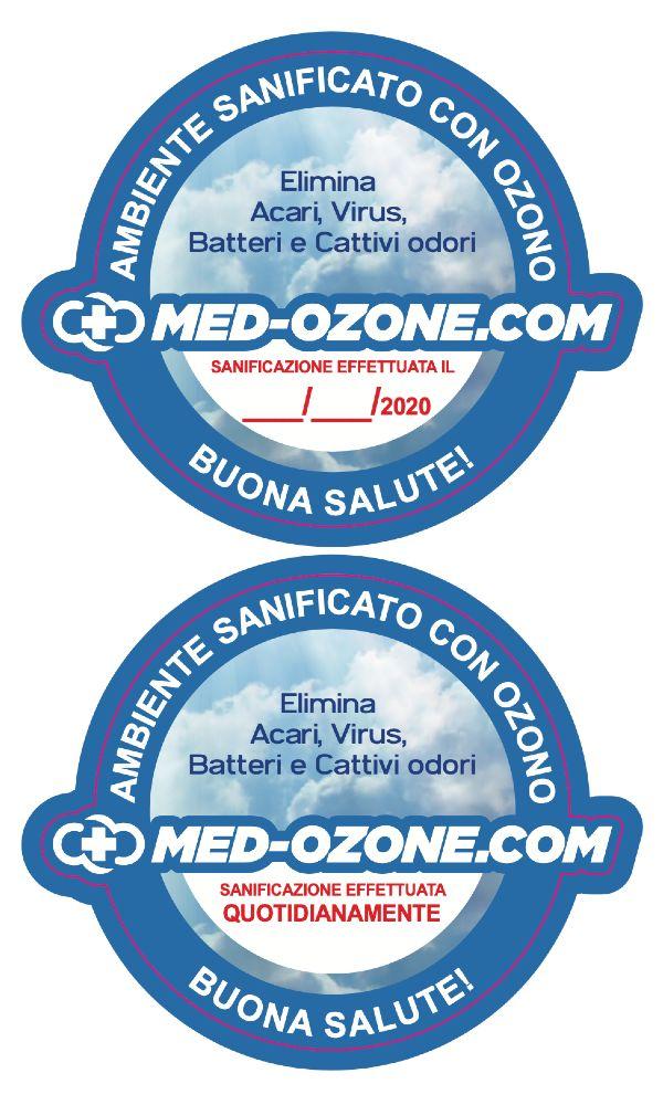 locale sanificato con ozono
